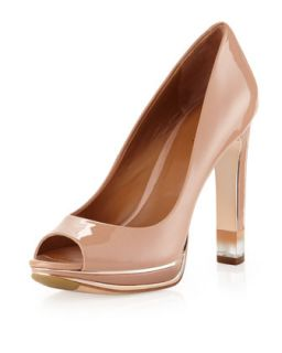Liliana Clear Heel Pump, Natural