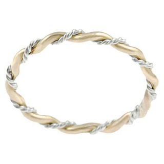 Tressa Collection Sterling Silver and Goldfill Twist Ring   Gold 5