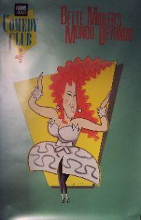 Bette Midler   Hbo Special (Rare Original Promo Poster)