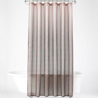 ROYAL VELVET Shimmer Stripe Shower Curtain Mushroom