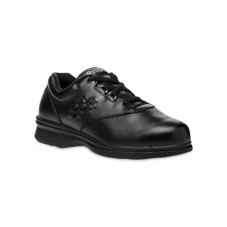 Propet Vista Lace Up Walking Shoes, Black, Womens