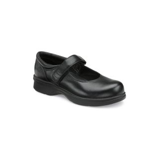 Propet Leather Mary Jane Walker Shoes, Black, Womens