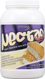 Syntrax Nectar Whey Protein Isolate Powder Vanilla Bean Tort