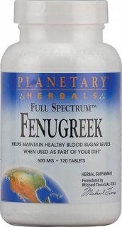 Planetary Herbals Full Spectrum Fenugreek 600 mg 120 Tablets