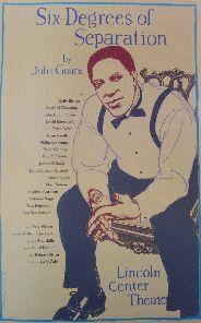 Six Degrees of Separation (Original Broadway Theatre Window Card)