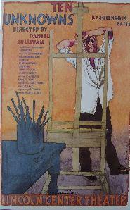 Ten Unknowns (Original Broadway Theatre Window Card)