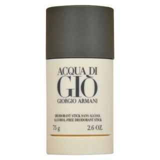 Mens Acqua Di Gio by Giorgio Armani Alcohol Free Deodorant Stick   2.6 oz