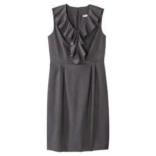 Merona Petites Sleeveless Sheath Dress   Gray 8P