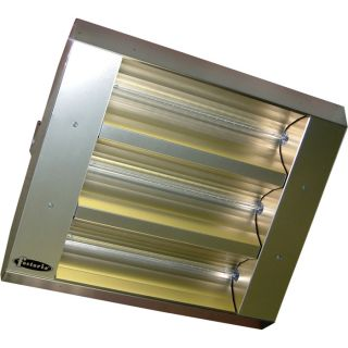 TPI Indoor/Outdoor Quartz Infrared Heater   16,382 BTU, 240 Volts, Stainless