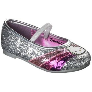 Toddler Girls Hello Kitty Ballet   Silver 1