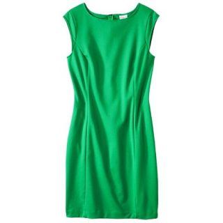 Merona Womens Ponte Sheath Dress   Mahal Green   S