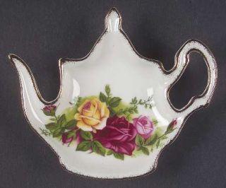 Royal Albert Old Country Roses Tea Bag Holder, Fine China Dinnerware   Montrose