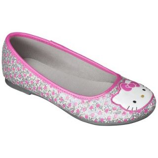 Girls Hello Kitty Ballet Flat   Silver 1