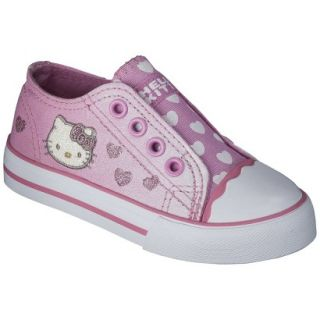 Toddler Girls Hello Kitty Canvas Sneaker   Pink 10