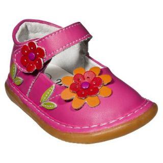 Little Girls Wee Squeak Daisy Mary Jane   Hot Pink 9