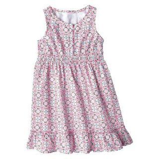 Girls Sleeveless Button Front Shirt Dress   Multicolor M