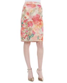 Womens marit floral print pencil skirt, multicolor   kate spade new york