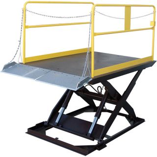 Vestil Scissor Dock Lift   Electric/Hydraulic, 12,000 lb. Capacity, 144 Inch L