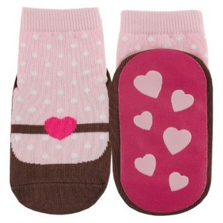 Luvable Friends Infant Girls Mary Jane Sock   Pink 18 24 M