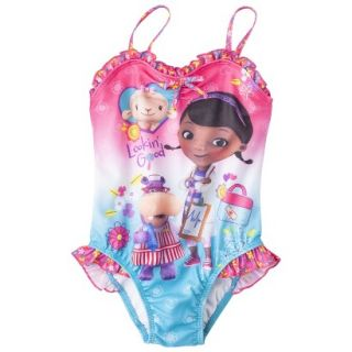 Doc McStuffins Toddler Girls 1 Piece Swimsuit   Pink 3T
