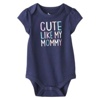 Circo Newborn Girls Cute Like Mommy Bodysuit   Blue 12 M