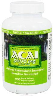 Good N Natural   Acai 3000 mg.   120 Softgels