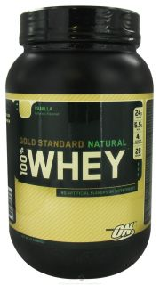 Optimum Nutrition   100% Whey Gold Standard Natural Protein Vanilla   2 lbs.