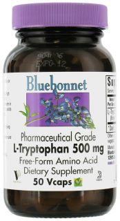 Bluebonnet Nutrition   L Tryptophan Pharmaceutical Grade Free Form Amino Acid 500 mg.   30 Vegetarian Capsules