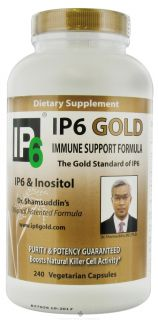 IP 6 International, Inc.   Dr. Shamsuddins Original IP6 Gold Immune Support with IP6 & Inositol   240 Vegetarian Capsules