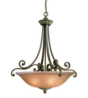 Windsor 3 Light Pendants in Sante Fe 821 38