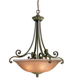 Windsor 3 Light Pendants in Sante Fe 821 38