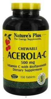 Natures Plus   Chewable Acerola C Complex 500 mg.   150 Chewable Tablets