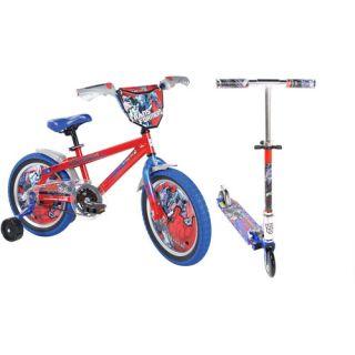 Transformers 16 Boys BMX Bike & Scooter Value Bundle