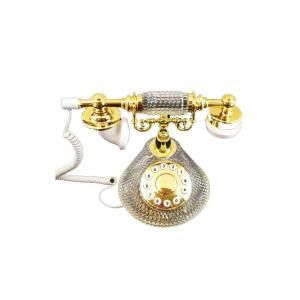 Golden Eagle French Crystal Corded Phone CRYSTALPHONE