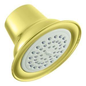 MOEN 1 Function Easy Clean XLT Showerhead in Polished Brass 6303P