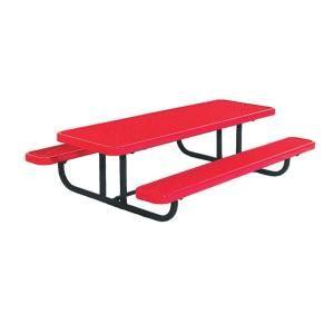 Ultra Play 8 ft. Diamond Red Commercial Park Preschool Rectangular Table Portable PBK158PS V8R