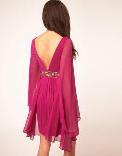 Forever Unique  Vestido túnica con escote en V pronunciado y adornos de Forever Unique en