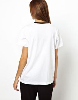 Nácar  Camiseta de punto con estampado de araña de cristal con adornos de Mother of Pearl en