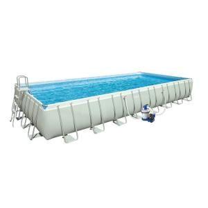 Intex 32 ft. x 16 ft. x 52 in. Rectangular Ultra Frame Pool Set 28371EG
