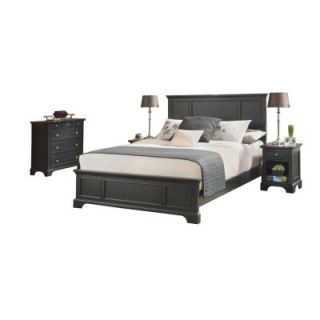 Home Styles Bedford Black Queen Bed, 2 Nightstands and Chest 5531 5016