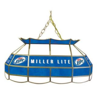 Trademark Global Miller Lite 28 in. Stained Glass Pool Table Light ML2800