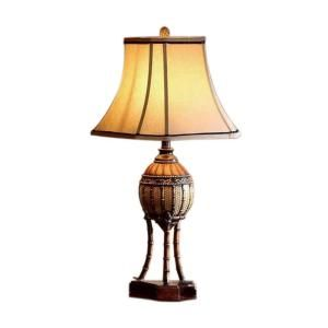 OK LIGHTING 31.5 in. Antique Brass Bahama Collection Table Lamp OK 4231T