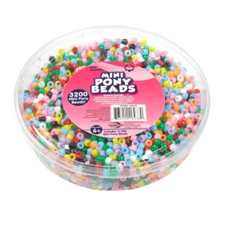 Kids Craft Small Plastic Pony Beads, Multi Color: Crafts