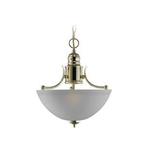 Sea Gull Lighting Linwood 2 Light Polished Brass Semi Flush Fixture 77225 02