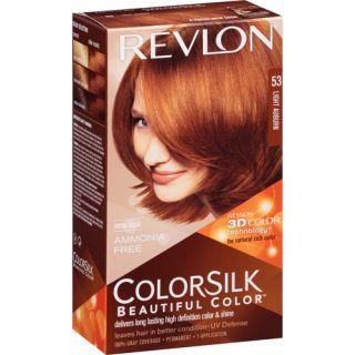 revlon colorsilk 53 light auburn dark brown hairs