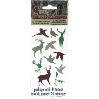Unique Temporary Tattoo Sheets, Camo Woods: Party Supplies