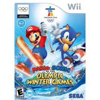 Mario and Sonic at the Olympic Winter Games, Mario and Sonic Wii Game, Mario Olympic Video Game, Wii Video Game