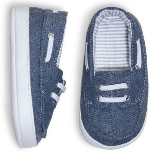 Cherokee Infant Toddler Girls Chambray Deck Shoe   Blue 3 6 M