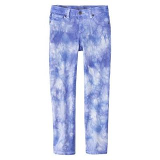 Girls Tye Dye Print Skinny Jean   Bright Blue 5