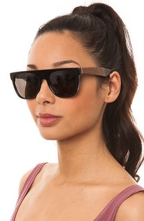 Super Sunglasses Flat Top in Briar and Black